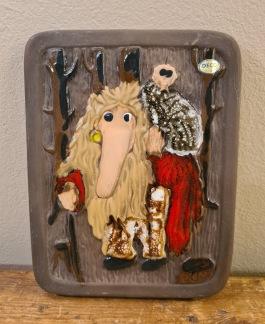 """Keramiktavla DECO """"Troll"""". Höjd 20,5 cm. Bredd 16 cm. Fint skick. 60 SEK"""