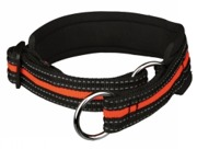 Halvstryp, S/M: 33-39 cm/25 mm, svart/orange