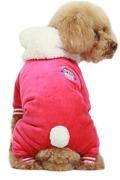Hoodie Dog Jumpsuit Rosa