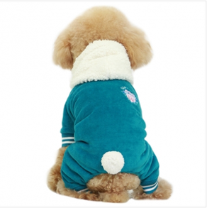 Hoodie Dog Jumpsuit ljusblå - Hoodie dog jumpsuit ljusblå S