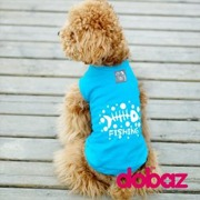 Hund t-shirt Fishing blue & red