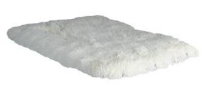 Hundfäll med lång fleecepäls - Hundfäll vit 75*50cm M