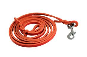 Rött Läder koppel - Koppel rött 6mmx180
