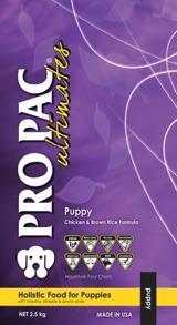PRO PAC PUPPY CHICKEN & BROWN RICE WHOLEGRAIN - PRO PAC PUPPY CHICKEN & BROWN RICE WHOLEGRAIN 2,5kg
