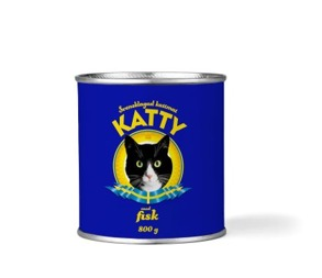 Katty burk 800g - Katty fisk 800g