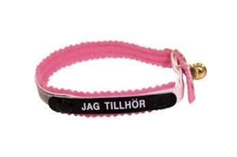 Jag tillhör katthalsband - Katthalsb.refl/rosa filt