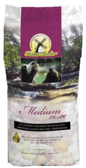 HUNDFODER HALLA MEDIUM 26-20 15KG - Hallafoder Medium