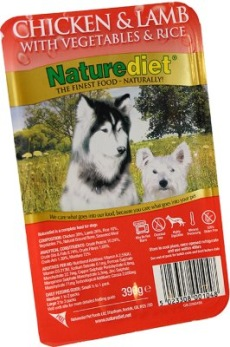 NATUREDIET CHICKEN & LAMB 18 pack 390GR - NATUREDIET CHICKEN & LAMB 390GR 18 pack