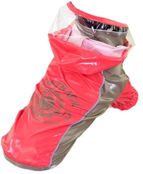 Hood Raincoat Rosa - Hood raincoat rosa S