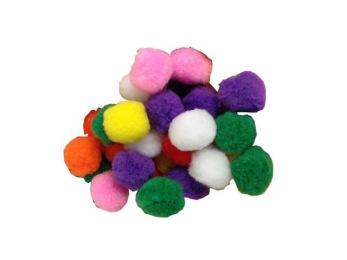 Kattleksaker -  Pompom bollar 100-p