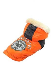 Hund jacka wounder Orange - Hundjacka wounder orange M