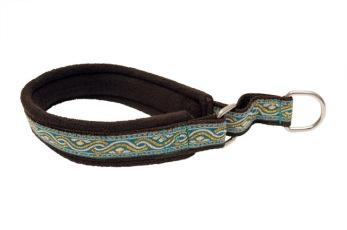 Velour/dekorband i blandade färger - Velour svart/turkos 30 cm