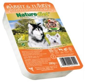 NATUREDIET RABBIT & TURKEY 18 pack 390GR -  NATUREDIET RABBIT & TURKEY 390GR 18 pack