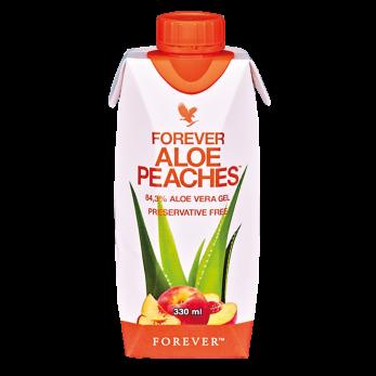 FOREVER ALOE PEACHES™- 330 ML 12-PACK - Aloe Bits´n Peaches 12x33cl