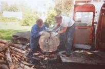 Vedklyvar tillverkades under lågkonjunkturen 1991
