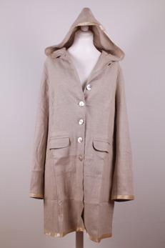 Hanna - Hanna kappa med luva i naturell linne