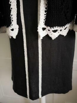Steffy kjolen - Steffy kjol, grafitsvart linne