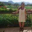 Lilly - Lilly klänning utan ärm, offwhite spets