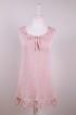 Alizee - Alizee en handgjord kort klänning, varm rosa