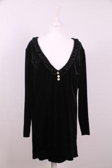 Mirja - Mirja en tröja i sammetstreach, svart