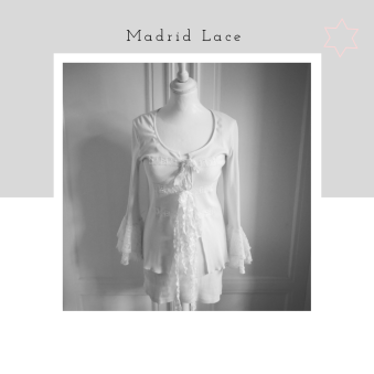 Madrid Lace - Madrid lace eko ribb, offwhite