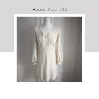 Anna - Anna 103 puff- size S,  off-white ekoribb