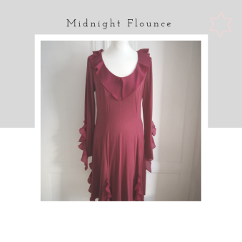 Midnight - Midnight Flounce,jersey viskos, kall röd