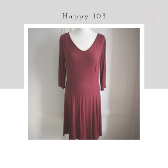 Happy - Happy 103 klänning, kall röd, Jersey viskos