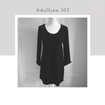 Adolfina 103 - Adolfina 103, sammet, size S/M, svart