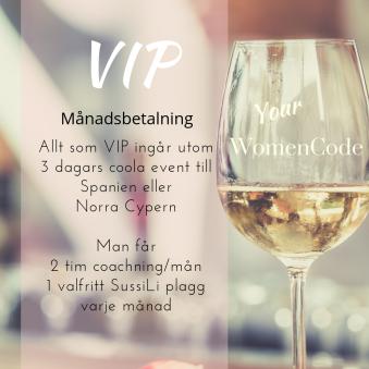 Your WomenCode,VIP - Your WomenCode, VIP, månadsbetalning