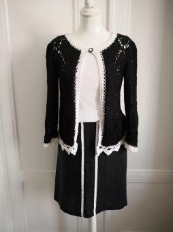 OUTLET - Steffie kjol i linne med rivet lakan som detalj