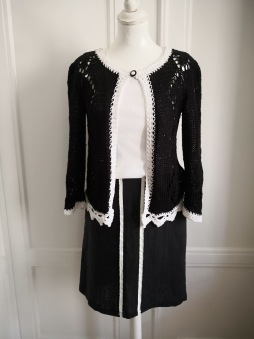 SussiLi Clothes - OUTLET - Steffie kjol i linne med rivet lakan som detalj