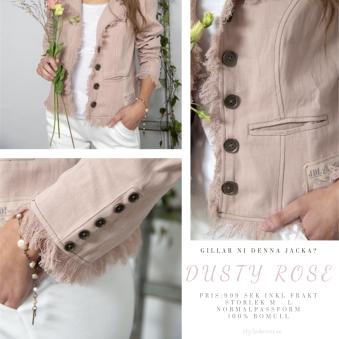 Bohemia country style - DustyRose jacket, 100% bomull, Storlek M