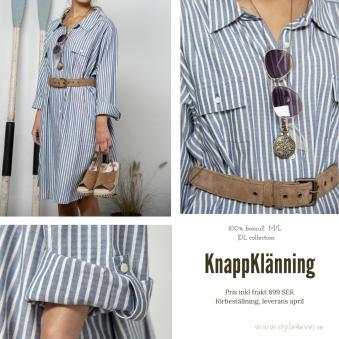 KnappKlänning - Knappklänning, storlek M/L, föreställning 50%