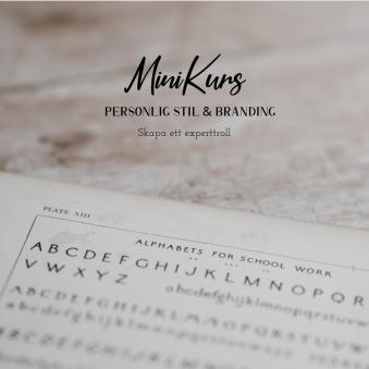 Mini Kurser - Life and Business - Mini KursPersonligStil & Branding