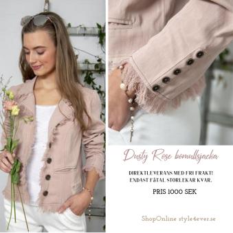Dusty Rose jacka - DustyRose jacket, 100% bomull, Storlek M