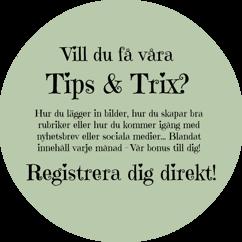 Tips & Trix från Hemsidormedmera 1 gång i månaden!