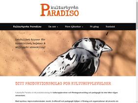 Hemsidesuppdrag: Kulturbyrån Paradiso