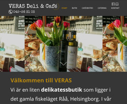 Hemsidesuppdrag: VERAS Deli & Café