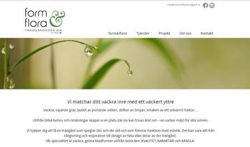 Hemsidesuppdrag: form&flora Trädgårdsdesign
