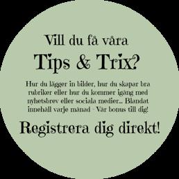 Anmäl dig till Hemsidormedmeras Tips & Trix