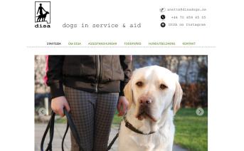 Hemsidesuppdrag: Nylansering av DISA dogs in service & aid