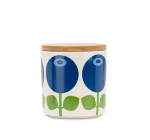 Porslinsburk med trälock - Porslinsburk med trälock bluberry