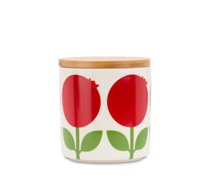 Porslinsburk med trälock - Porslinsburk med trälock lingonberry