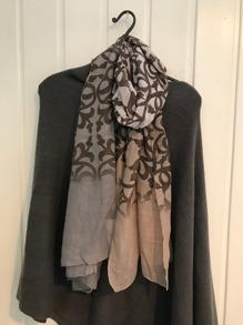 Mönstrad vårsjal - Stormönstrad sjal rosa /brun