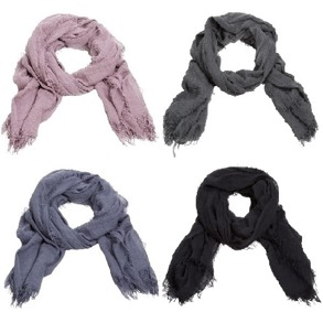 Enfärgade sjalar - Enfärgad grå sjal