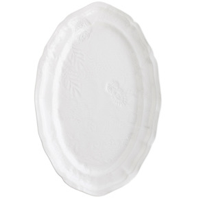 Ovalt fat Ståhl - Ovalt fat, vit Ståhl