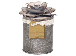 Doftljus med rosdekor Chic Antique - Stor: 14 x 10cm