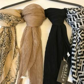 Scarf - scarf svart/vit mönstrad