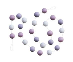 Girlang - Girlang kulor på tråd rosa/lila